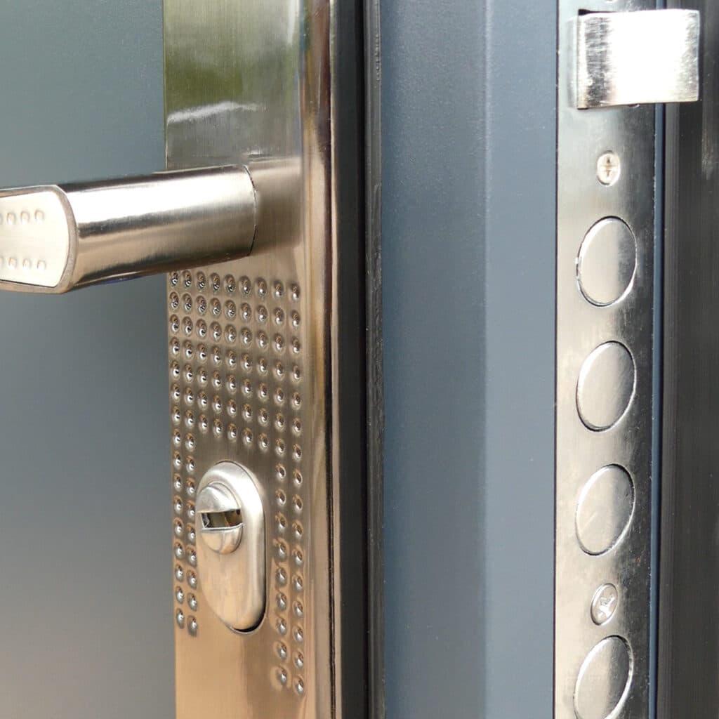 Antracit HiSec ajtó kilincs