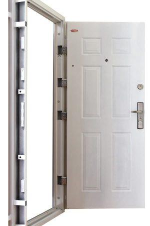 Hisec fehér nyitott biztonsági ajtó